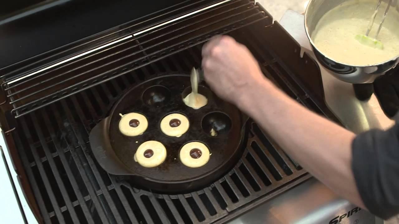 weber grill shop salzburg patrick 39 s grilltip ebelskiver dessert youtube. Black Bedroom Furniture Sets. Home Design Ideas