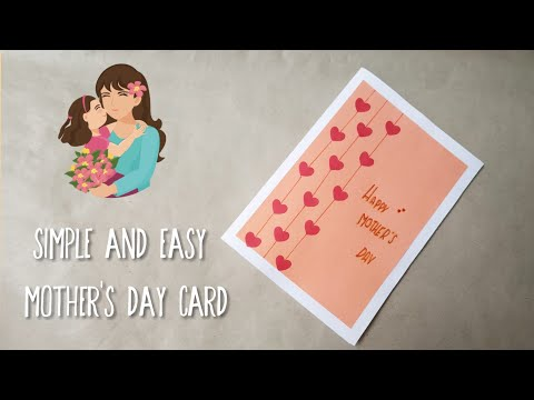 Simple and Easy Card for Mother's Day /  handmade mother's day greeting card