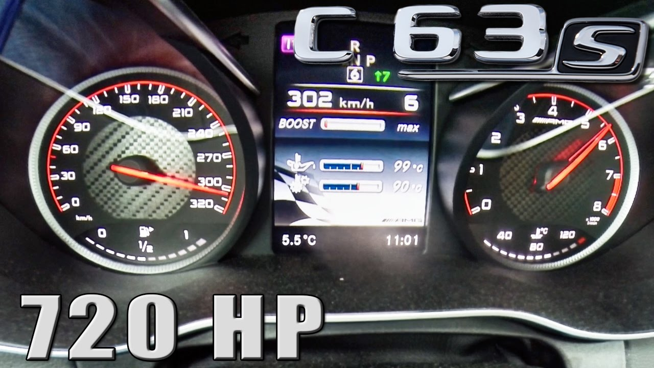 mercedes c63 s amg 720 hp acceleration 0 302 km h by autotopnl rh youtube com