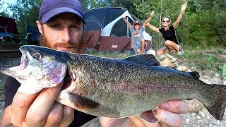 CAR CAMPING at the FISH POND (On a BUDGET!) | Hot Dogs vs. Trophy Fish