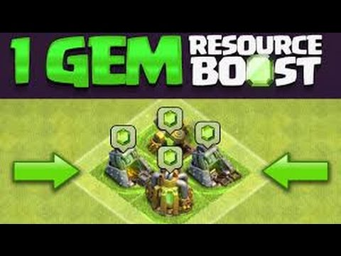 Clash of clans turn fourth! BOOSTING COLLECTORS FOR 1 GEM each.