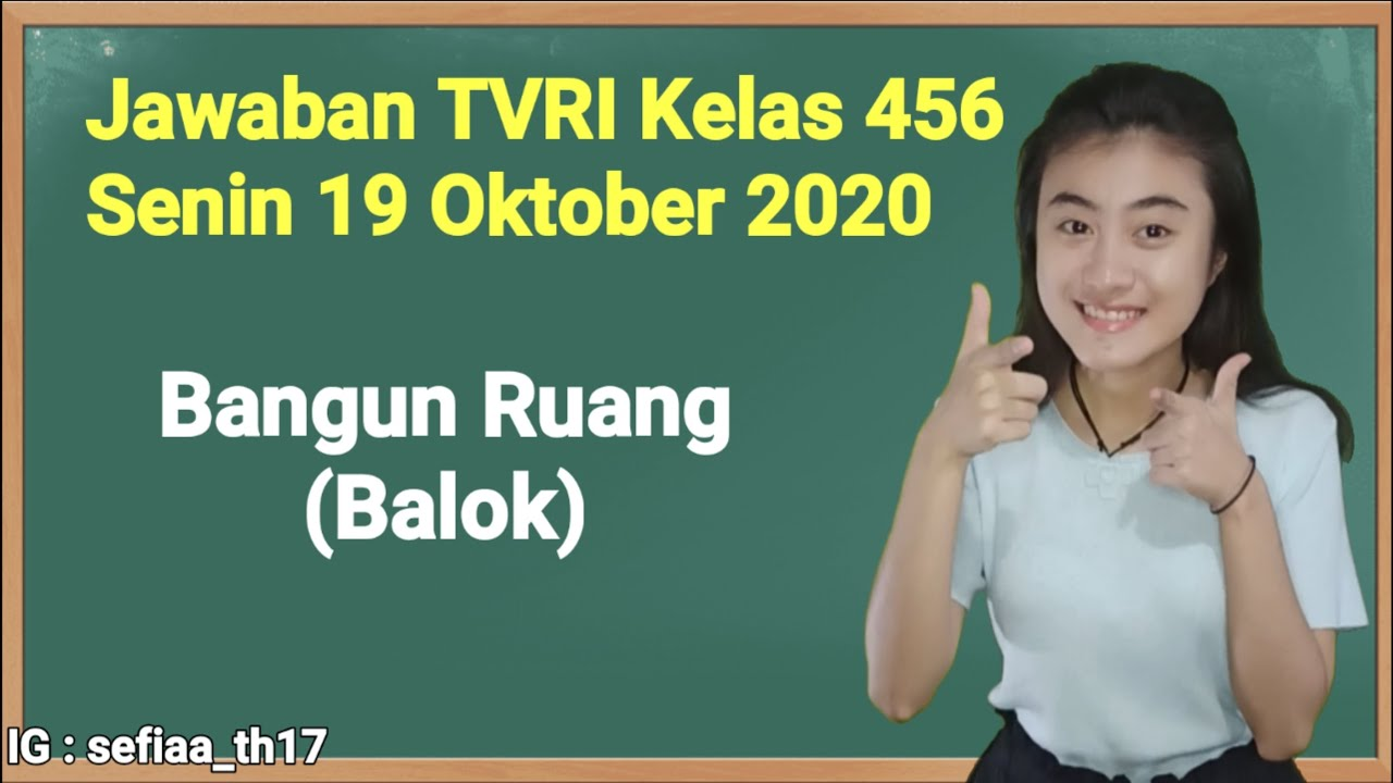 Kunci Jawaban TVRI Kelas 4-5-6 SD Senin 19 Oktober…