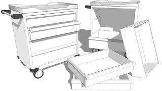 소품 스케치업 서랍 카트 sketchup drawer cart