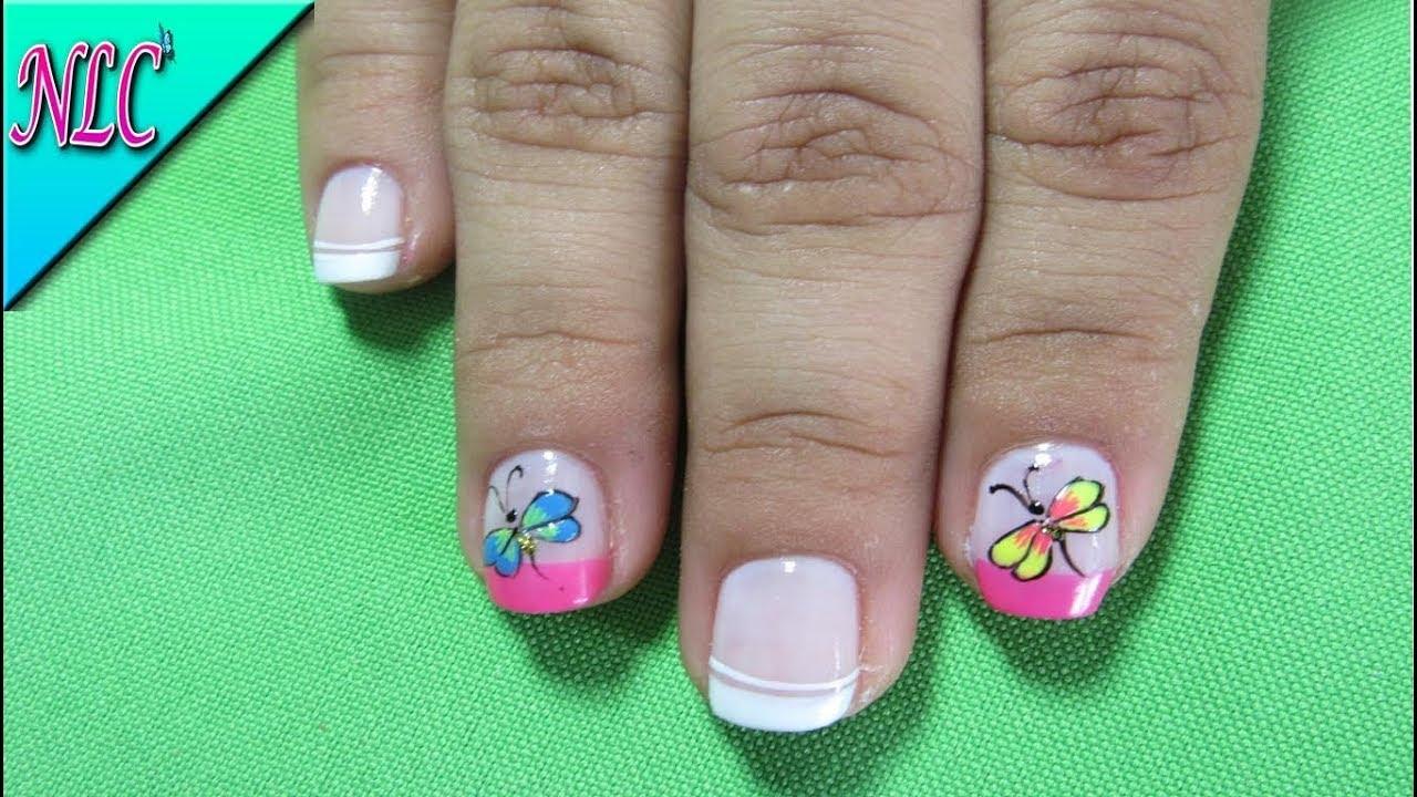 Decoración De Uñas Libélula Dragonfly Nail Art Como Pintar