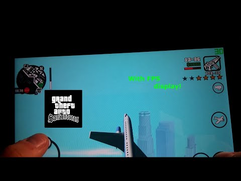 Grand Theft Auto: San Andreas on Nvidia Shield K1 Offscreen test [With FPS display!]