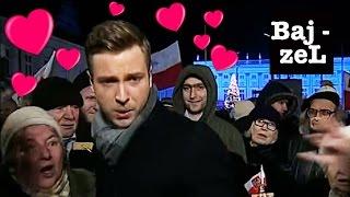 Zwolennicy PiS POMAGAJĄ reporterowi TVP na miesięcznicy | Bajzel