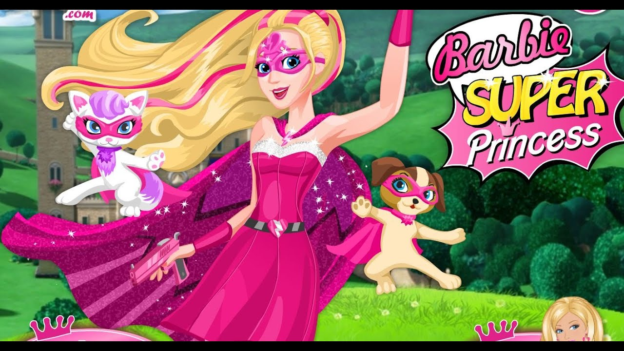 Barbie super princess online game youtube - Supercasa de barbie ...