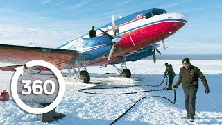 Fly an Airplane on Skis | Antarctica 360 VR Video | Discovery TRVLR thumbnail
