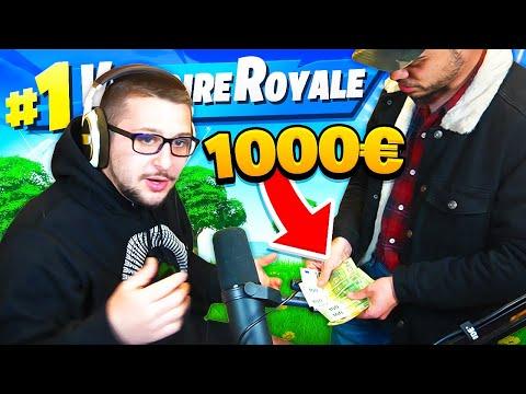 IL M'OFFRE 1 000€ si JE FAIS TOP 1 sur FORTNITE !