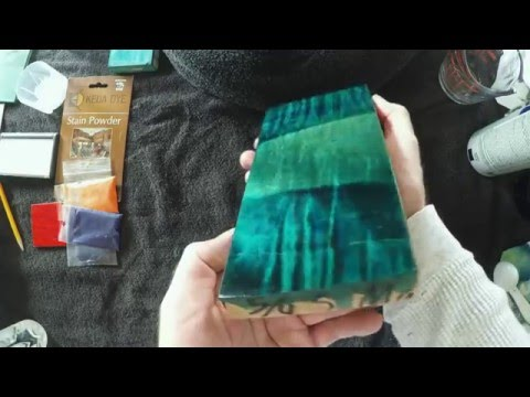 Teal Wood Stain - Mixing Wood Dyes - Teal Wood Dye Color Formula Using Keda Dyes