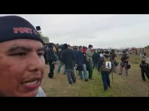 Standing Rock Buffalo Stampede From the Protest