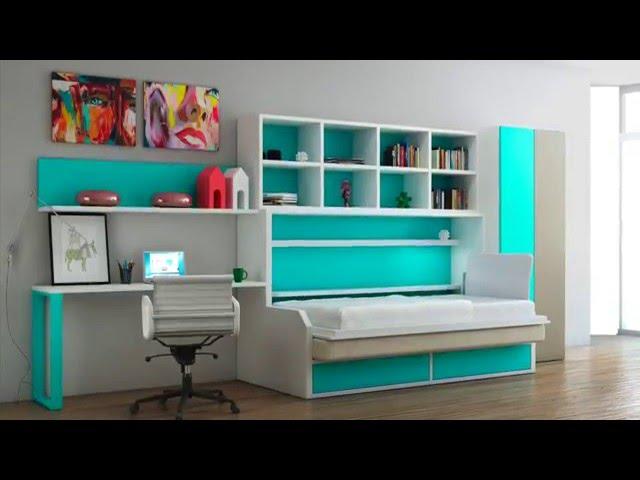 Jugendmöbel, Klapp-, Etagenbetten und Schließfächern - Tetris