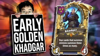 Super Early GOLDEN KHADGAR!! | Battlegrounds | Hearthstone
