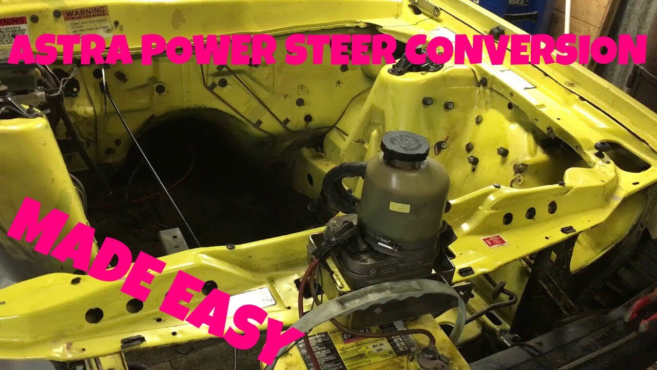 small resolution of easymods easy guide on how to do a astra electric power steering pump conversion on an alternate car