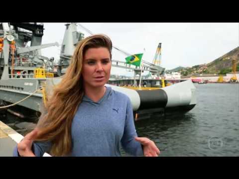 Karina Oliani treina com fuzileiros navais - Esporte Espetacular