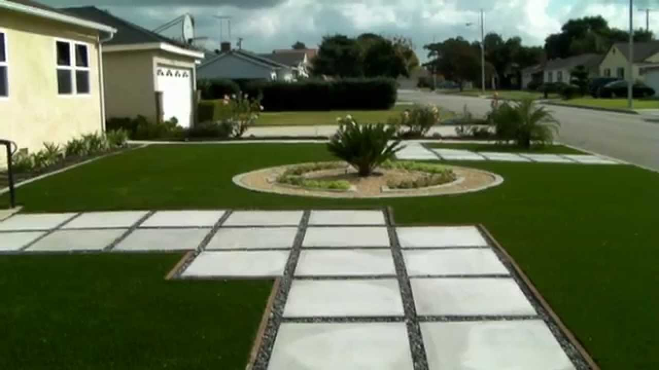 Landscaping Ideas Front Yard Renovation Concrete Curb Edging Artificial Gr Paving Stones You