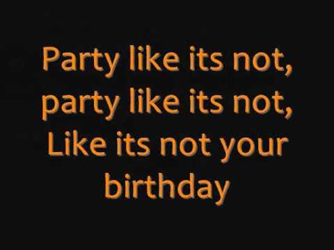 Not Your Birthday - Allstar Weekend - Lyrics