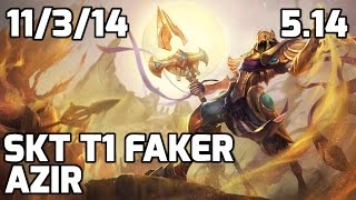 SKT Faker nerfed Azir vs Twisted Fate [Patch 5.14]