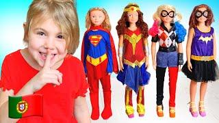 Mania se tornou um super herói e ajuda seus amigos. Coleção de vídeos para toda a família!