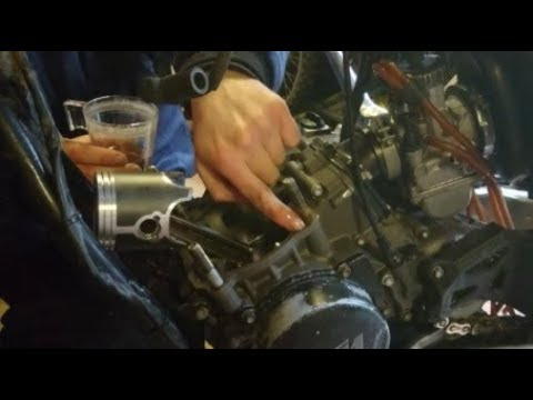 How to Change Piston and Power Valve Cleaning 2 Stroke Dirtbike KTM 250 EXC Top End Rebuild