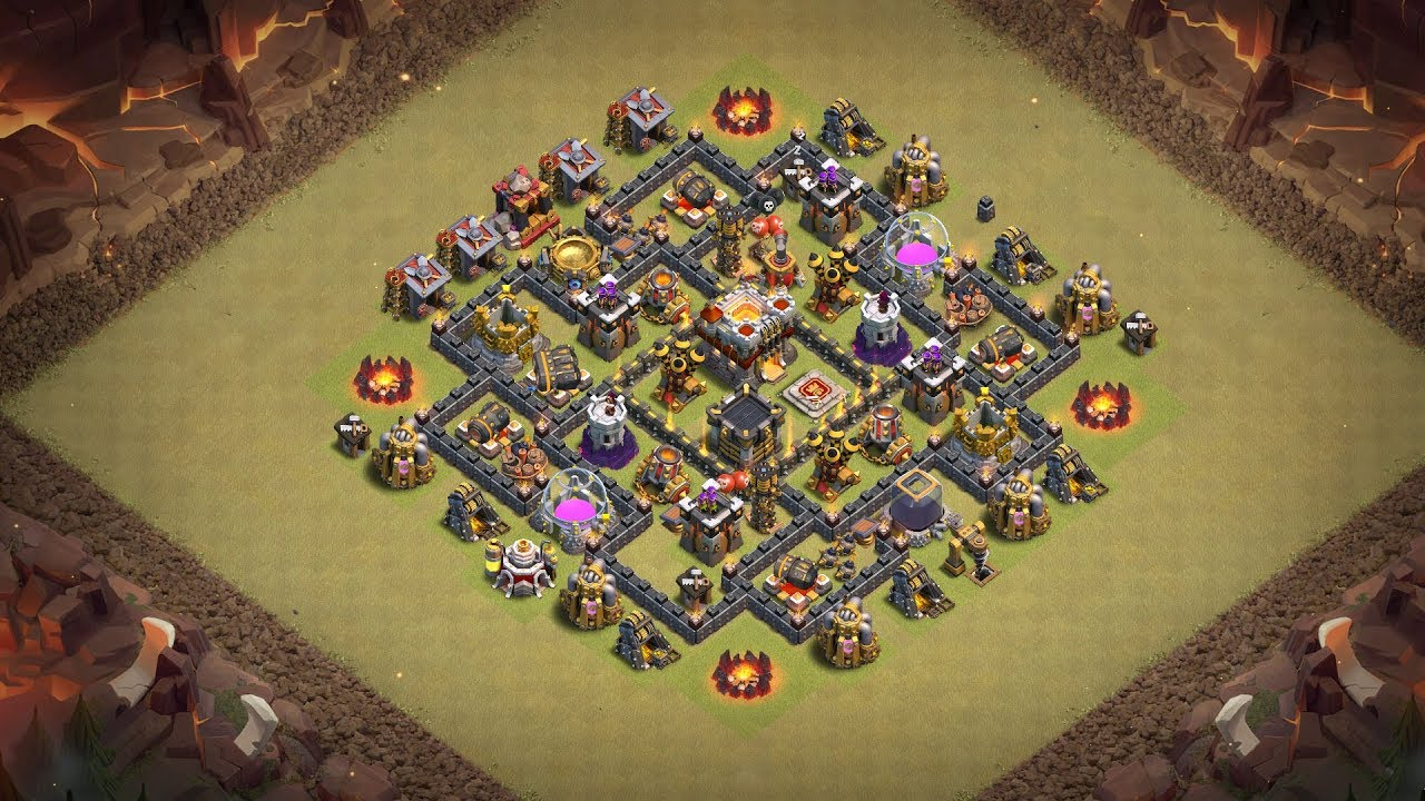 Undefeated Coc Th 7 War Base 1