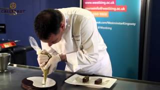 Callebaut Chocolate Délice W/ Coffee Foam & Pistachio Ice Cream By Gary Hunter