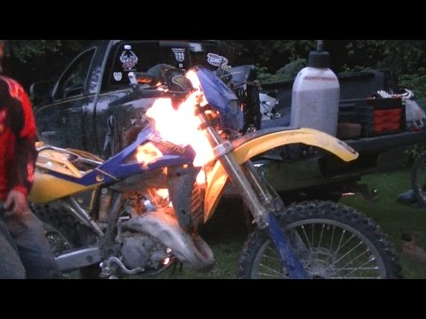 Dirt Bike Fire!