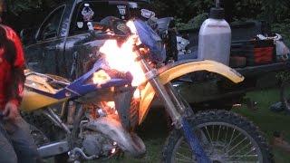 Dirt Bike Fire!