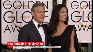 Подвійне щастя  дружина актора Джорджа Клуні вагітна двійнею