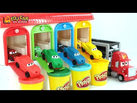 Thumbnail: Learning Color Special Disney Pixar Cars Lightning McQueen Mack Truck playdoh for kids car toys