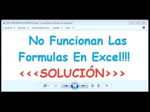 Excel - Formula no funciona  -------------- Excel - Formula not working