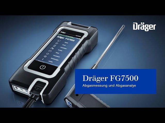 Abgasmessung und Abgasanalye mit dem neuen Dräger FG7500 - Präziser, schneller, smarter!