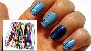 Дизайн ногтей / Скотч-лента для ногтей / NailArt / полоски на ногтях(ПОДПИСАТЬСЯ НА МОЙ КАНАЛ: http://www.youtube.com/subscription_center?add_user=mixstylecappuccino Давайте дружить и общаться тут ♥ Мой..., 2013-12-23T11:22:36.000Z)