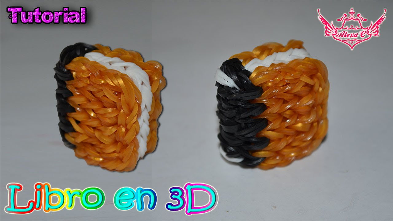 922abdf42151 ♥ Tutorial: Libro en 3D de Gomitas (sin telar) ♥