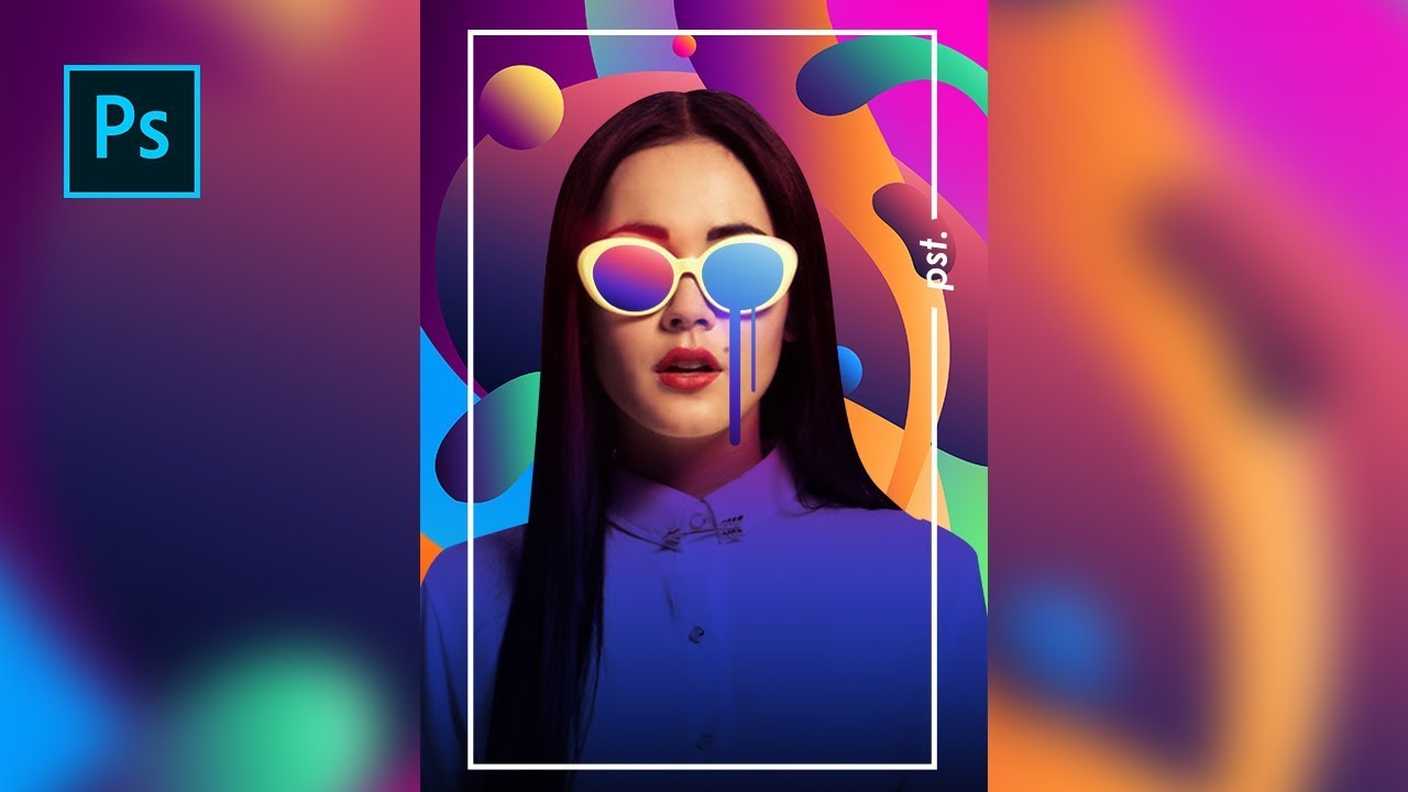 How to Create a Colorful Photo Editing  Magazine Cover Design  Photoshop Tutorials  YouTube