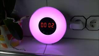 Fukkie Lichtwecker - 7 Farben Wake-Up Licht Wecker mit Sonnenaufgang