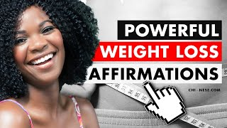 Weight Loss Affirmations That Really Work! ★ Affirmations for Weight Loss ★ (Daily Affirmations)
