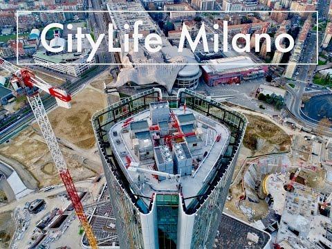Citylife by Zaha Hadid Aerial View (under construction) - Filmed with DJI Phantom4