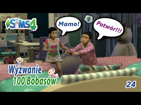 """The Sims 4. Wyzwanie: 100 Bobasów (Odc.24) """"Opryskaj potwora Ludwikiem!"""""""
