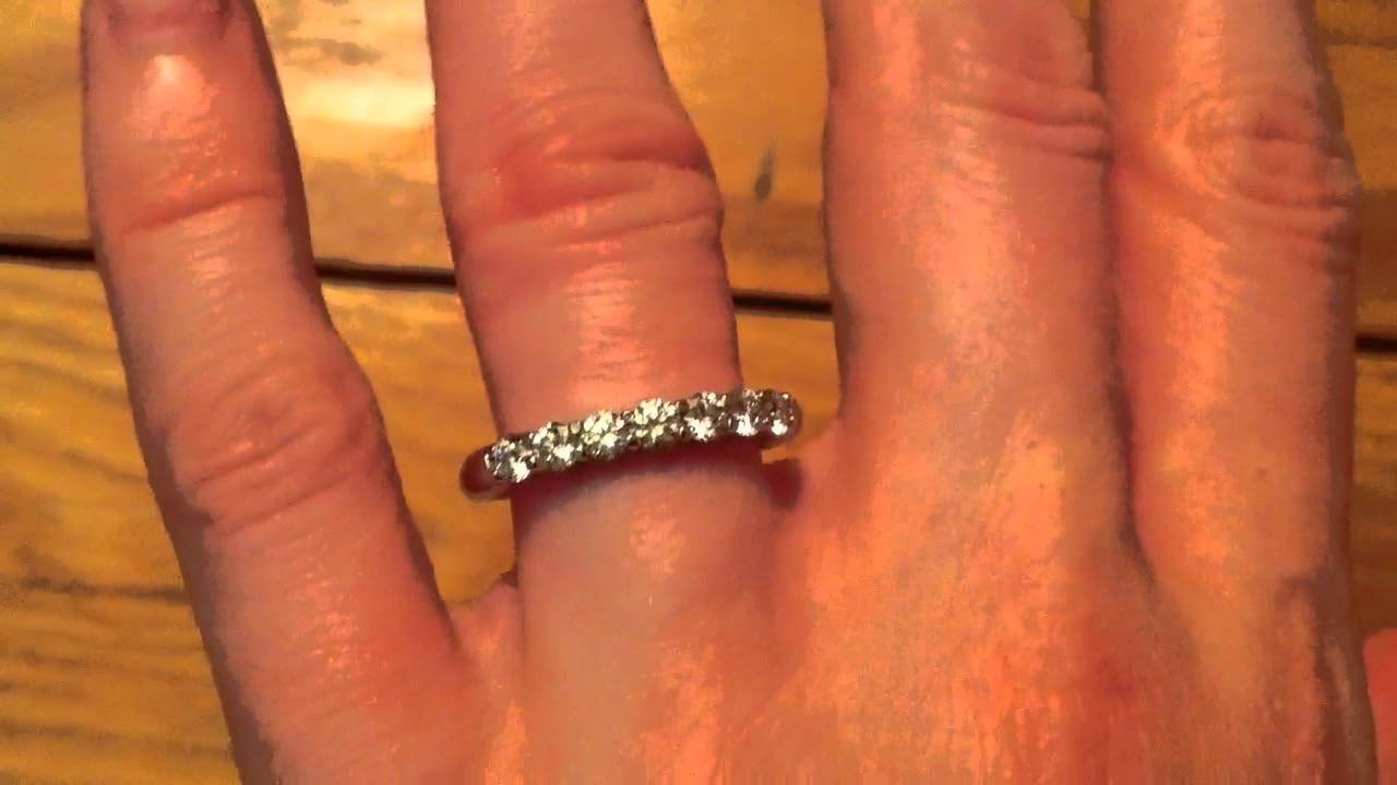Tiffany Shared Prong Eternity Wedding Band Youtube