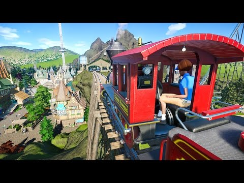 Elevated Train Ride :: Planet Coaster Gameplay