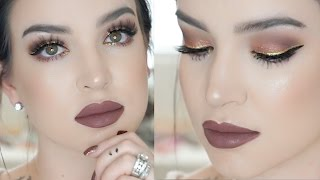 rose gold   new years eve makeup tutorial