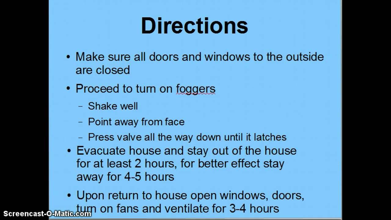 Real Kill Indoor Fogger Instructions Youtube