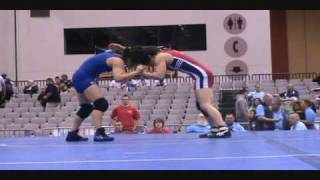 Patricia Miranda vs. Jessica Medina - 51 kg semifinals at U.S. Women's Nationals