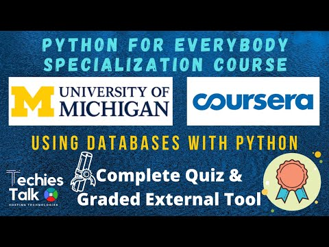 Coursera : Using Databases With Python | All Weeks Graded Assignments And Quizzes  Solved