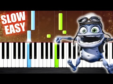 Crazy Frog - Axel F -  SLOW EASY Piano Tutorial by PlutaX