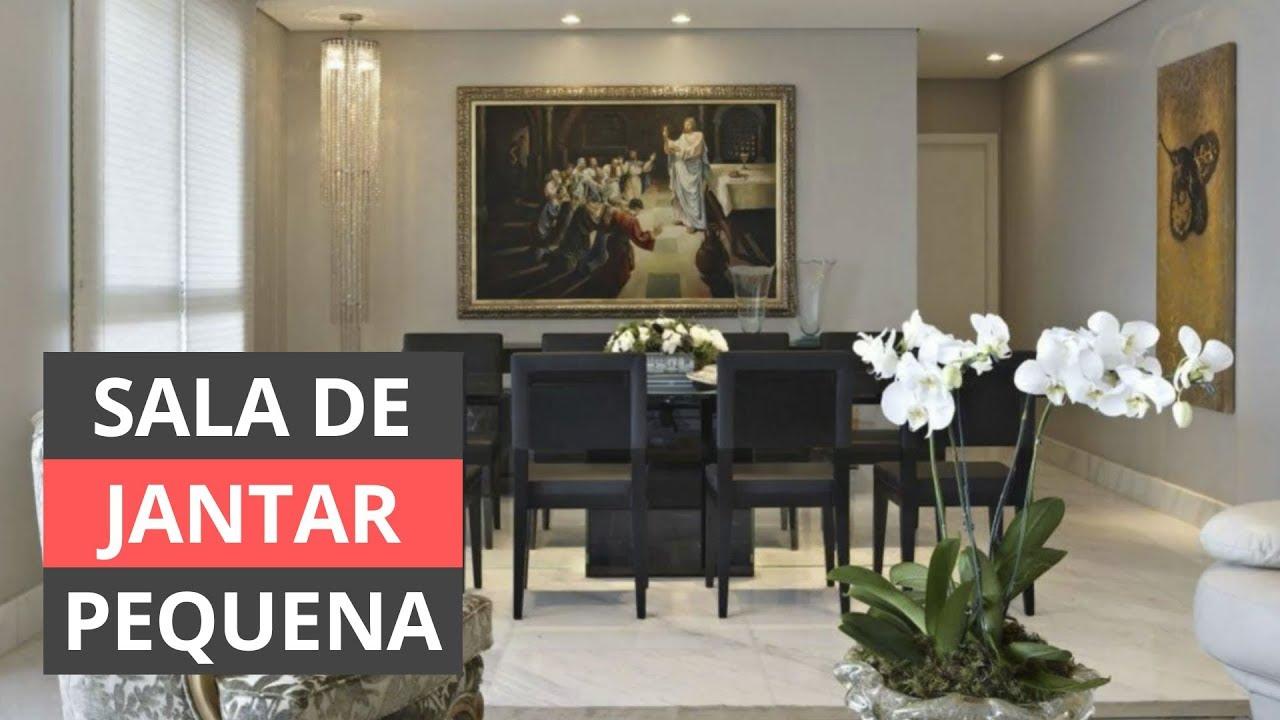 SALA DE JANTAR PEQUENA SAIBA COMO DECORAR! YouTube -> Decoração De Sala De Jantar Simples