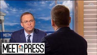 Full Mulvaney: 'Absolutely Cannot' Rule Out Another Government Shutdown | Meet The Press | NBC News