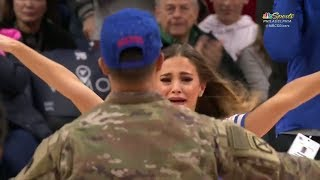 Philadelphia 76ers dancer surprised by boyfriend in military homecoming | ESPN