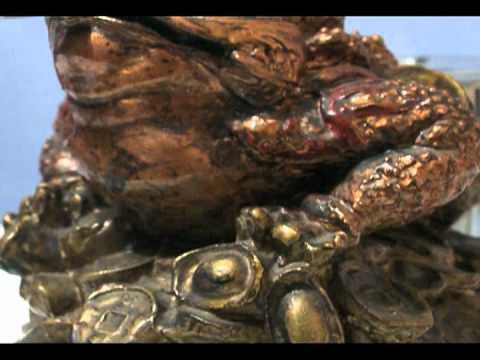 Ritual parta la abundancia con la rana de tres patas con - Rana de tres patas feng shui ...